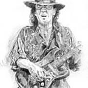 Stevie's Blues Art Print by David Lloyd Glover
