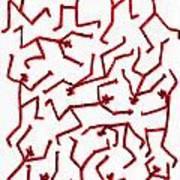 Stickmen Characters Nine Eleven Two K Ten Art Print