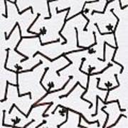Stickmen Characters Nine Eleven Two Thousand Ten Art Print