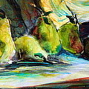Still Life Of Pears Art Print by Mindy Newman