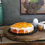 Still Life With Cake And Cactus Art Print