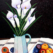 Still Life With Callas Art Print