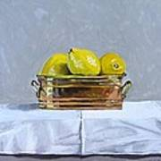 Still Life With Copper And Lemons Art Print
