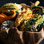 Still Life With Gourds Art Print