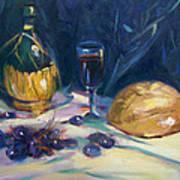 Still Life With Grapes Art Print