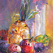 Still Life With Pineapple Art Print