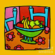 Still Life With Red And Pink Art Print by Anne Leuck