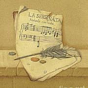 Still Life With Sheet Music Art Print