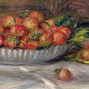 Still Life With Strawberries Art Print