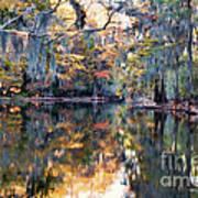Still Waters - Autumn Reflections Art Print