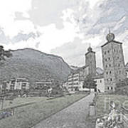 Stockalper Castle Art Print