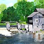 Stockdale Apple Cider and Grist Mills Art Print
