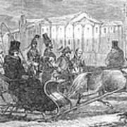 Stockholm: Sleighing, 1850 Art Print