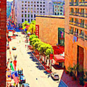 Stockton Street San Francisco . View Towards Union Square Print by Wingsdomain Art and Photography