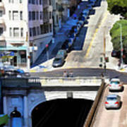 Stockton Street Tunnel In Hilly San Francisco . 7d7499 Art Print by Wingsdomain Art and Photography