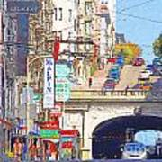 Stockton Street Tunnel In San Francisco . 7d7355 Art Print