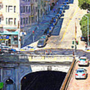 Stockton Street Tunnel Midday Late Summer In San Francisco Art Print