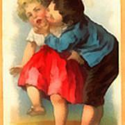 Stolen Kiss Art Print