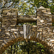 Stone Archway At The Entrance Art Print by Todd Gipstein