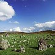Stone Circles On A Landscape, Beaghmore Art Print