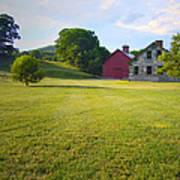 Stone Farmhouse In Vermont Art Print