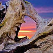 Stone Lagoon Sunset Redux Art Print