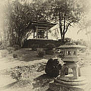 Stone Lantern And Temple Bell Art Print