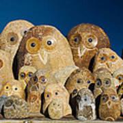 Stone Owls Art Print