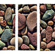 Stone Triptych Art Print
