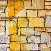 Stone Wall Art Print by Carlos Caetano
