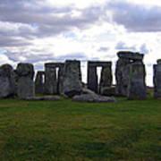 Stonehenge - Overcast Art Print