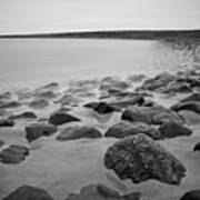 Stones In North Sea In Germany Art Print by by Felix Schmidt