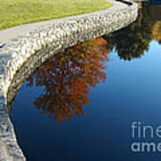 Stonewall And Autumn Reflections Art Print