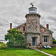 Stonington Lighthouse Museum Art Print