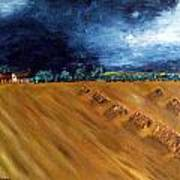 Stooks At Winkleigh Art Print by Sandy Wager