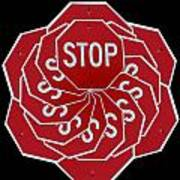 Stop Sign Kalidescope Art Print