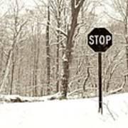 Stop Snowing Art Print