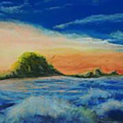 Storm At Low Sun Art Print by Peter Jackson