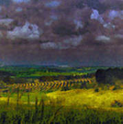 Storm Clouds Over Meadow Art Print
