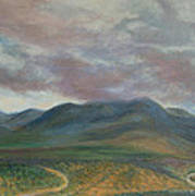 Storm Clouds Over the Ortiz Mountains Art Print
