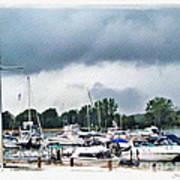 Storm Over Lake Erie Art Print