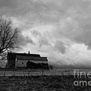 Stormy Day On The Farm Art Print