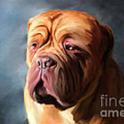 Stormy Dogue Art Print