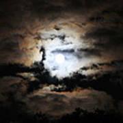 Stormy Moon Art Print