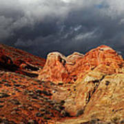 Stormy Skies Over Valley Of Fire Art Print