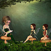 Story Timei N The Forest Art Print