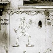 The Surreal Skeleton  Art Print