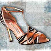 Strappy Striped Sandal Art Print