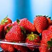 Strawberries In A Plastic Sale Box  Art Print