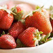Strawberries Art Print by Kim Fearheiley